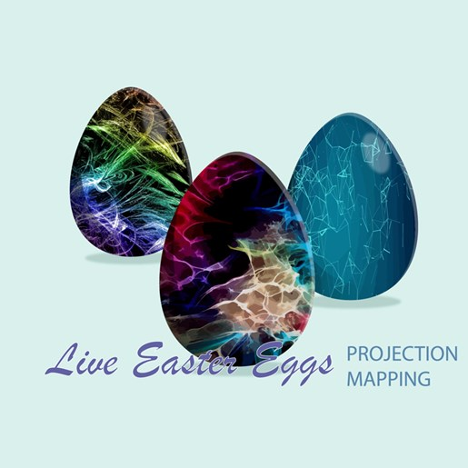 Live Easter Eggs: Projection mapping