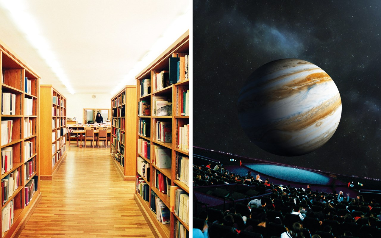 Discovering the Planetarium shows in the EF library