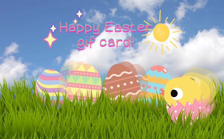 Moving Easter Card